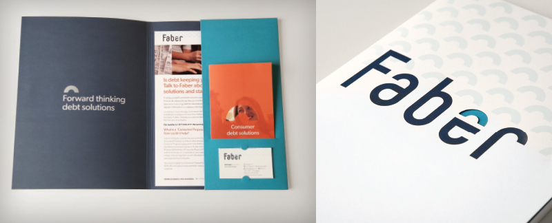 Faber branding & graphic design services provided by g[squared]