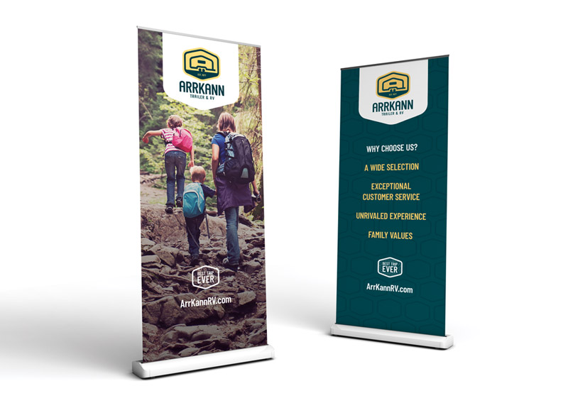Tradeshow pull-up banners